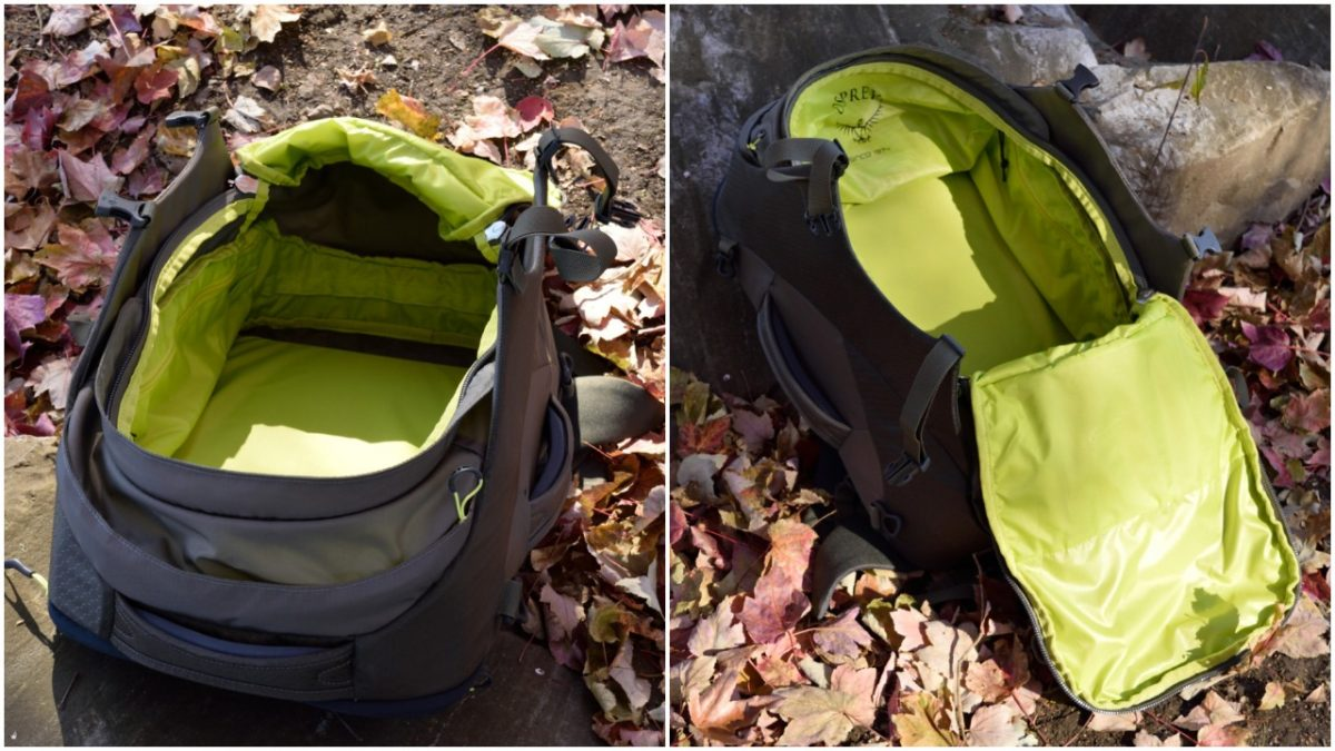 osprey porter 30 main compartment review