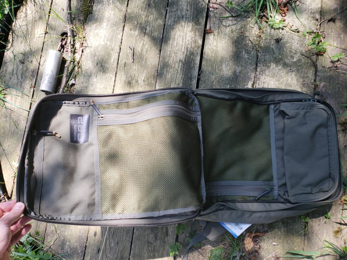 goruck gr2 outer compartment