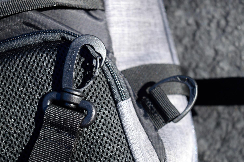 amazonbasics slim travel backpack plastic clips